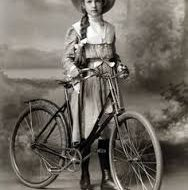 Edwardian girl with bike