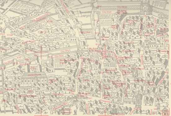Detail from The A to Z of Elizabethan London